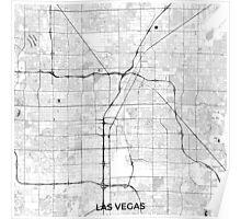 Las Vegas Map Gray Poster
