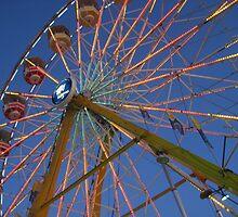 Ferris Wheel at Dusk by ceWOLFE