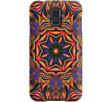 Psychedelic Kaleidoscope 1 Orange Mandala abstract iPhone & iPod Cases / Covers Samsung Galaxy Case/Skin