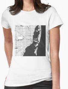 Miami Map Gray T-Shirt