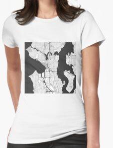 Seattle Map Gray T-Shirt