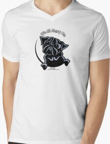 Black Pug :: It's All About Me Mens V-Neck T-Shirt