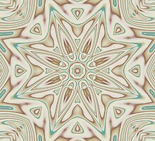 Kaleidoscope 2 Tan / Beige Mandala abstract iPhone & iPod Case / Cover by Leah McNeir