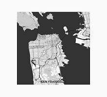 San Francisco Map Gray Unisex T-Shirt