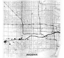 Phoenix Map Gray Poster