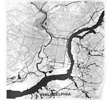 Philadelphia Map Gray Poster