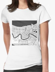 New Orleans Map Gray T-Shirt