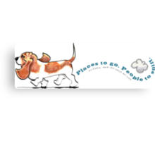 Basset Hound :: Places to Go People to Sniff Canvas Print