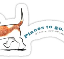 Basset Hound :: Places to Go People to Sniff Sticker