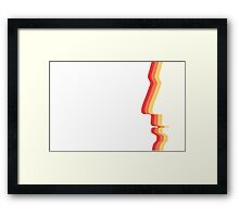 Pop Art Human Face Silhouette Framed Print