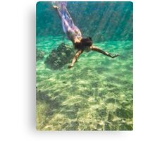 Swimmin with the Fishes Canvas Print