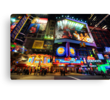 Stunning Lights Of 42nd Street  Canvas Print