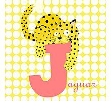 j for jaguar Photographic Print