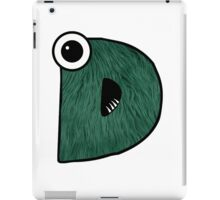 Monster Letter D iPad Case/Skin