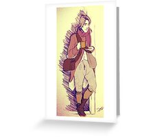 18th century soldier Greeting Card