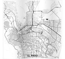 El Paso Map Gray Poster