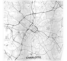Charlotte Map Gray Poster