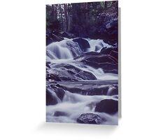 Waterfall at Dusk Greeting Card