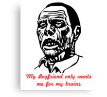 Zombie Boyfriend Canvas Print