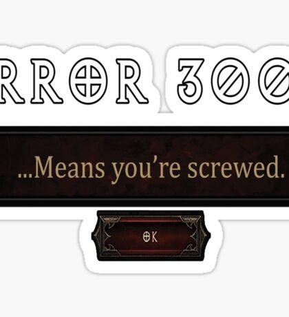 Error 3003 Sticker