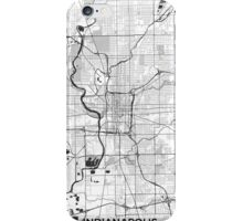 Indianapolis Map Gray iPhone Case/Skin