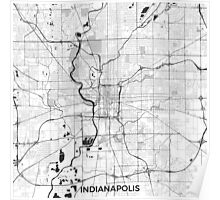 Indianapolis Map Gray Poster