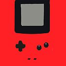 Red Gameboy Colour iPhone Case by Jake Driscoll