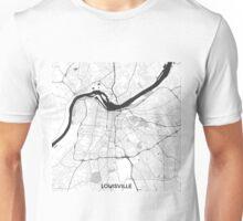 Louisville Map Gray Unisex T-Shirt