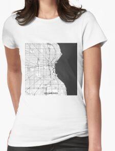 Milwaukee Map Gray T-Shirt
