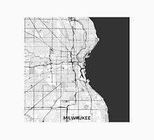 Milwaukee Map Gray Unisex T-Shirt
