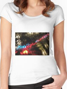 Lightpainting Single Wall Art Print Photograph 18 Women's Fitted Scoop T-Shirt