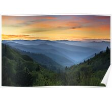 Smoky Mountains Sunrise - Great Smoky Mountains National Park Poster