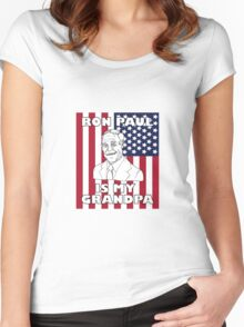 Ron Paul is My Grandpa Women's Fitted Scoop T-Shirt