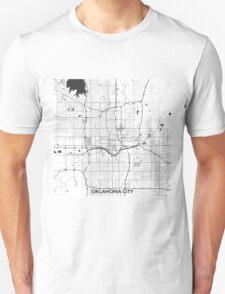 Oklahoma City Map Gray Unisex T-Shirt
