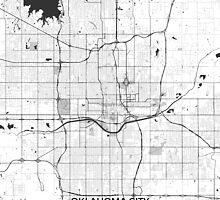 Oklahoma City Map Gray by HubertRoguski