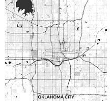 Oklahoma City Map Gray Photographic Print
