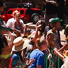 Taos Hippie Parade Dancing and Singing by doorfrontphotos