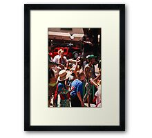 Taos Hippie Parade Dancing and Singing Framed Print