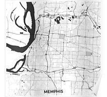 Memphis Map Gray Poster