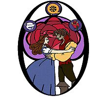 Rumbelle (Stained Glass) Photographic Print