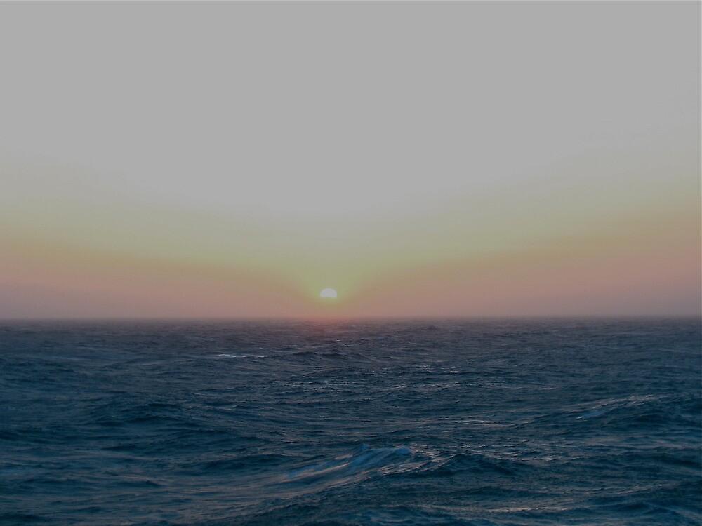 Sunrise at Sea  Off the coast of California by Ian Phares