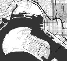 San Diego Map Gray Sticker