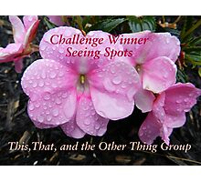 Challenge Winner - Seeing Spots Photographic Print