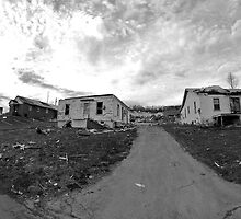 Houses Damaged by Tornado by Kent Nickell