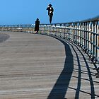 Walking the Rail at Jones Beach  by John  Kapusta
