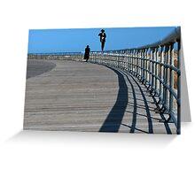 Walking the Rail at Jones Beach  Greeting Card