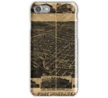 Panoramic Maps Fort Worth Tex ''The Queen of the Prairies'' county seat of Tarrant County 1886 iPhone Case/Skin