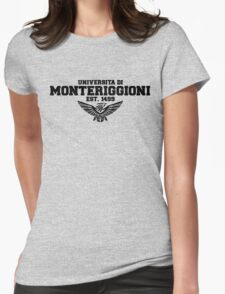 Universita di Monteriggioni (Black) Womens Fitted T-Shirt