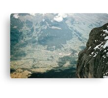 Grindelwald from inside Eiger Mouintain at 9400 level 1957 09220027  Canvas Print