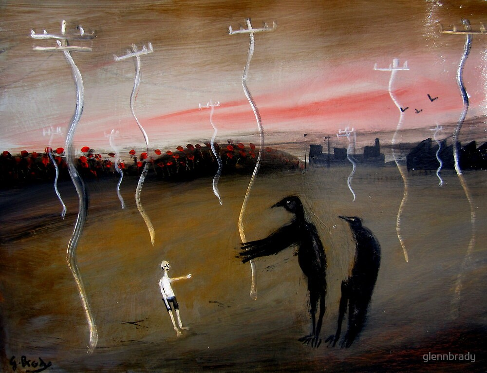 boy and crows by glennbrady